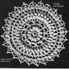 Round Crochet Medallion Pattern, Vintage 1940s
