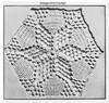 Star Medallion Crochet Pattern, Popcorn Stitch