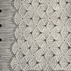Vintage Octagon Crocheted Bedspread Pattern with Fringe