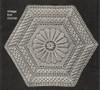 Crocheted Hexagon Block Pattern, Vintage 1940s