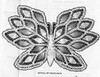 Crocheted Butterfly Pattern Illustration