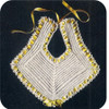 Ribbon Laced Crochet Baby Bib Pattern