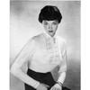 Knitting Pattern Shirt Front Blouse, Vintage 1950s