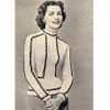 Chain Trimmed Knitted Blouse Pattern