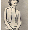 Vintage Blouse Knitting Pattern with Braided Trim