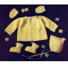 Yellow Crochet Baby Set Pattern