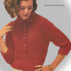 Red Knitted Shirt Pattern with 3/4 sleeves