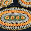 Crochet Oval Flower Hot Mats Pattern