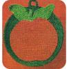 Crocheted Apple Potholder pattern