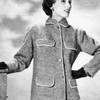 Knitting Pattern Braid Trimmed Jacket with Pockets