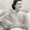 Bernat Knitted Lace Bed Jacket Pattern
