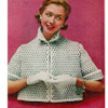 Bed jacket Knitting Pattern, Short Sleeves, from American Thread
