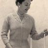 Knitting Pattern Misses Blouse with V-Neck