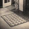 Crochet Geometric Rug pattern in loop stitch