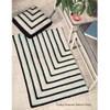 Vintage Modern Geometric Striped Rug Crochet Pattern