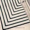 Crochet Rug Pattern in Geometric Stripes