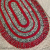 Oval Striped Crochet Rug Pattern with Fringe