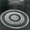 Sundial Crochet Rug pattern, Vintage 1940s