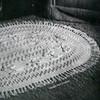 Floral Crochet Oval Rug Pattern, Fringed