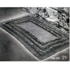Large Oblong Crocheted Area Rug with Tufted Borders