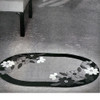 Large Oval Rug Crochet pattern with Flowers