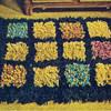 Knit Stitch Color Blocked Crochet Rug pattern