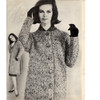 Knitted Specked Coat Pattern, Vintage 1960s