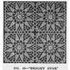 Vintage Bright Star Crochet Square Pattern from Lily Mills