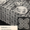 Vintage Crochet Tablecloth Pattern in Pineapple Squares