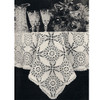 Crochet Cathedral Window Tablecloth, Vintage 1940s