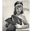 Large Crochet Handbag Pattern, Vintage 1950s