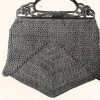 Vintage Crochet Bag Pattern with Wood Handle