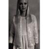 Womans Crochet Jacket Pattern with Bangle Trim