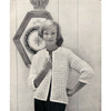 Crochet Jacket Pattern with Open Front