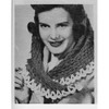 Fascinator Crochet Scarf Pattern, Vintage 1940s