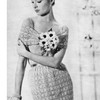 Crochet Dress & Stole Pattern, Vintage 1950s