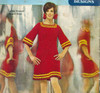 Crochet Square Neck Dress Pattern, Vintage 1960s