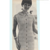 Vintage Buttoned Dress Crochet pattern