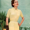 Short Sleeve Knitted Dress pattern with small notch collar