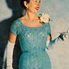 Knitted Lace Dress Pattern, Scoop Neck Short Sleeves
