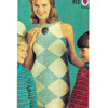 Sleeveless Knitted Argyle Dress pattern, Vintage 1960s