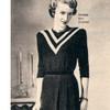 Vintage 1940's Knitted Stripe Yoke Dress Pattern