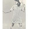 Irish Fisherman Knit Mini Dress Pattern on Big Needles