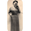 Vintage Womans Dress Knitting Pattern, Pleated Skirt
