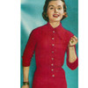 Knitted Button Dress Pattern, Vintage 1960s