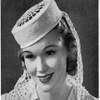 Vintage Crochet Pattern Pillbox Hat with Snood