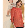 Seed Stitch Knitted Pullover Pattern, Large Collar
