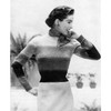 Knitting Pattern, Color Block Sweater