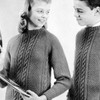 Miss Knitted Cable Pullover Pattern
