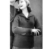 Bernat Mohshire Knitted Pullover Pattern for Teens